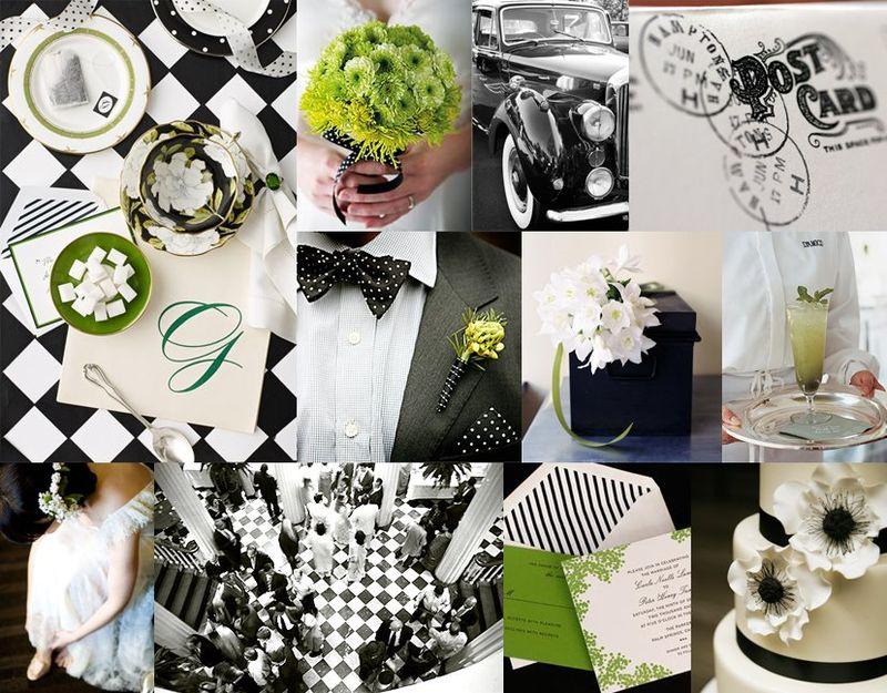 Black and White Wedding Theme Inspirational Ideas