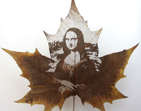 Leaf-sculpture-mona-lisa