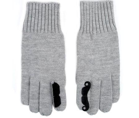 Mustache-gloves